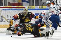 Brno 26.1.2020 - domácí HC Kometa Brno v bílém proti HC Litvínov (David Honzík)