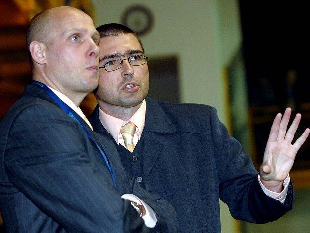 Nový trenér futsalistů Tanga Radek Korený (vpravo).