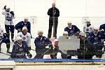 Po více jak třech měsících jsou opět v plném zápřahu. Tedy myšleno na ledě, šestitýdenní suchou přípravu už mají hokejisté mistrovské Komety za sebou. V úterý se sešla většina týmu k tréninku na ledě po dovolené.