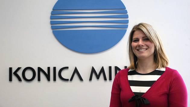 I v brněnských firmách se už objevili takzvaní manažeři štěstí. Kateřina Portová pracuje v pobočce společnosti Konica Minolta.