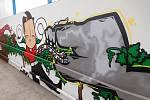 Hrůzostrašné podchody se mění v streetartové galerie. Města a obce si je nechávají vymalovat čím dál častěji. Na snímku podchod v Hodoníně.
