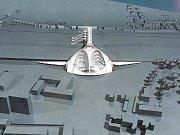 Návrh nádraží v Králově Poli podle architekta Petra Parolka.