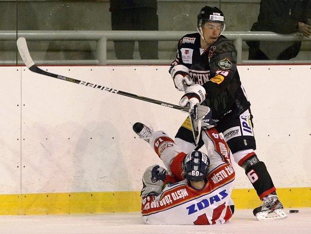 Hokejisté brněnské Techniky podlehli v domácím předehrávaném střetnutí 24. kola druholigové skupiny Střed Žďáru nad Sázavou 4:5.