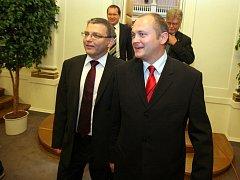Lubomír Zaorálek a Michal Hašek.