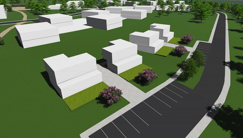 Plánovaný lázeňský komplex v Pasohlávkách. Apartmánové domy.