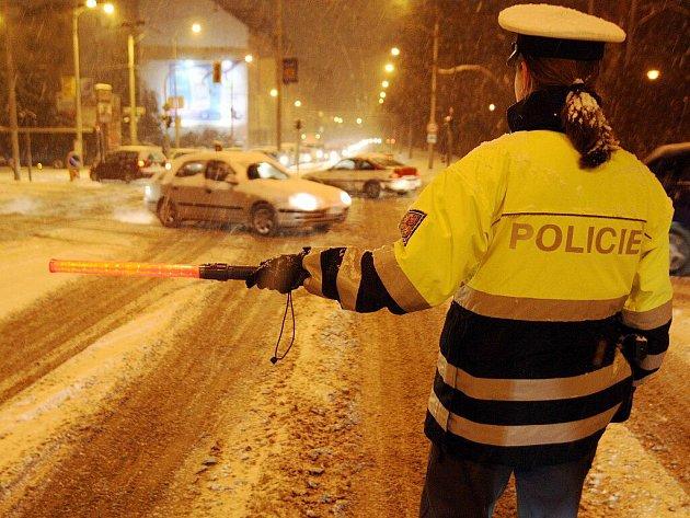 Sněhová kalamita v Brně.