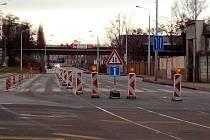 Uzavírka Dornychu kvůli přeložce tramvajové trati do Plotní ulice. Ilustrační foto.