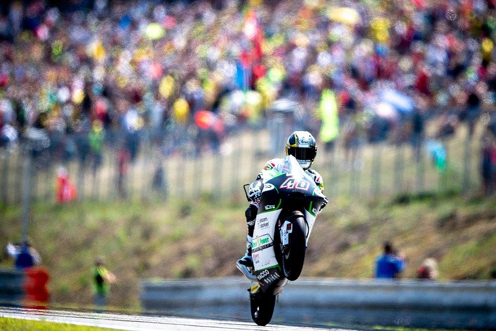 Finálový závod Moto3 Velká cena České republiky, závod mistrovství světa silničních motocyklů v Brně 4. srpna 2019. Na snímku Darryn Ninder (RSA).