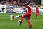 21. kolo druhé ligy mezi domácí FC Zbrojovkou Brno (v červeném) proti FK Ústí nad Labem.