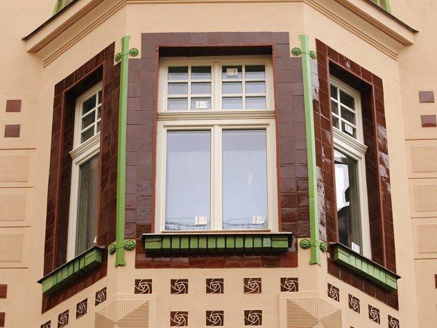 Secesní dům v ulici Milady Horákové.