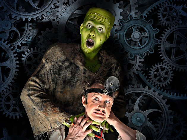 V hlavních rolích Mladého Frankensteina se objeví Milan Němec (dole) a Miroslav Urbánek.