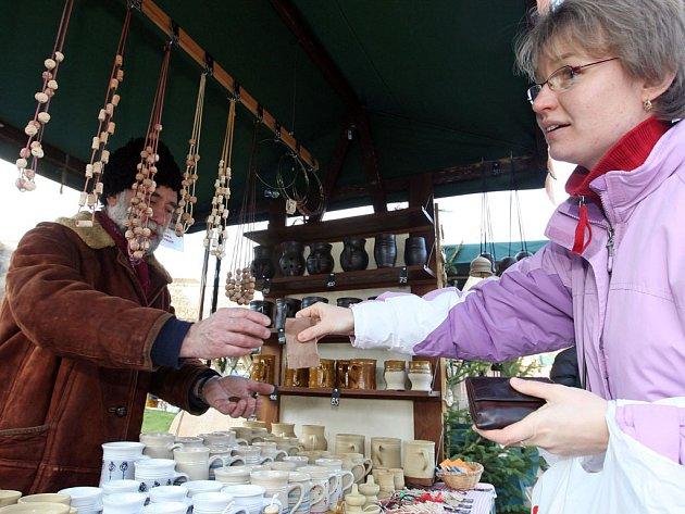Vánoční trhy na Moravském náměstí.