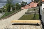 Nová relaxační zóna v Branišovicích se nachází poblíž Krčmy i kulturního domu.