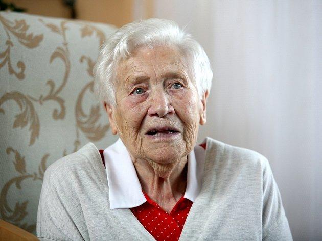Božena Kadrnková z Brna oslavila sté narozeniny.