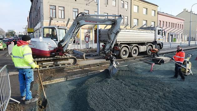 Rekonstrukce ulice Plotní v Brně.