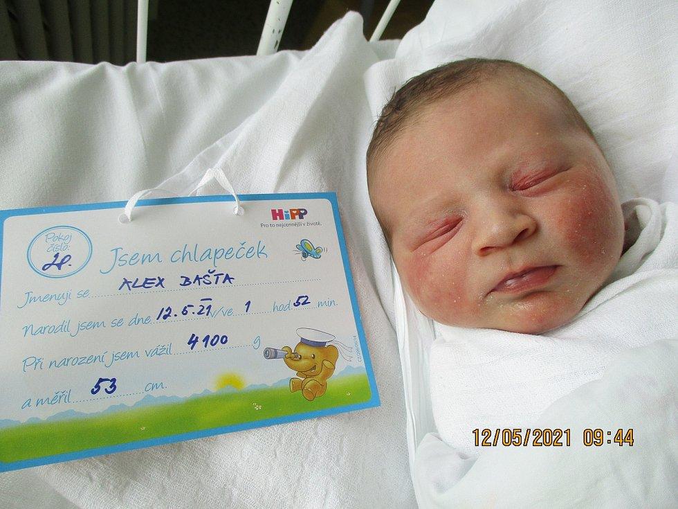 Alex Bašta, 12. května 2021, Dubňany, Nemocnice Břeclav, 4100 g, 53 cm