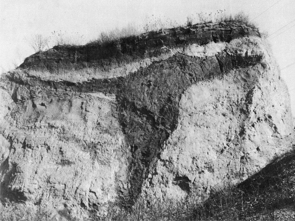Archivní snímek Mrazového klínu u Němčan, když ještě nezarůstal stromy