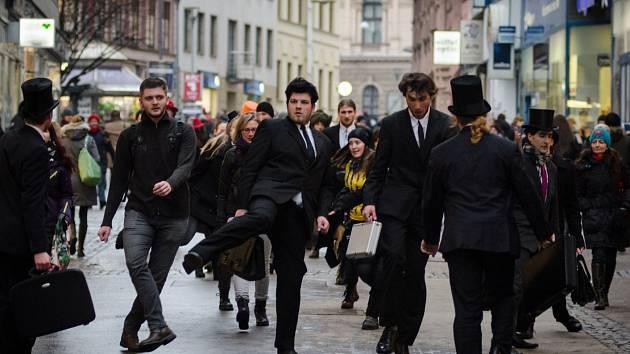 Silly Walk v Brně.