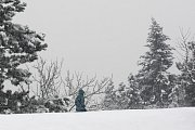 Sníh v brněnských ulicích