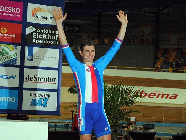 Český dráhový cyklista Milan Kadlec.