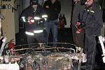 Požár prototypu elektromobilu na VUT v Brně.