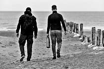 Pláž u Dunkerque.