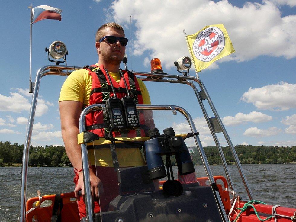 Vodní záchranář Ondřej Brunn.