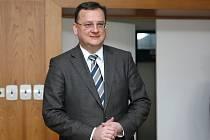 Premiér Petr Nečas na návštěvě v Brně.