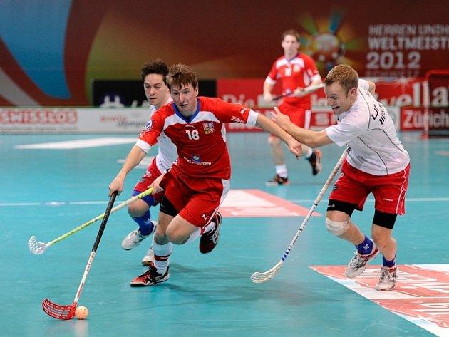Martin Ostřanský v zápase s USA.