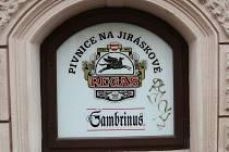 Pivnice Pegas v Jiráskově ulici v Brně.