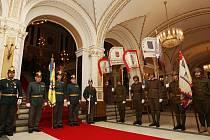 Váleční veteráni v Mahenově divadle.