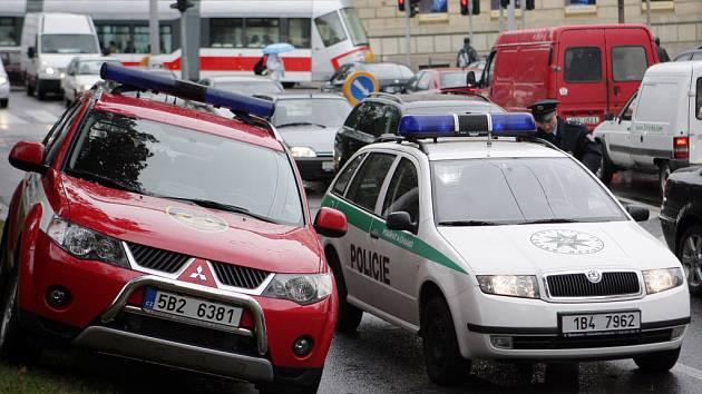 Nehoda za křižovatkou ulic Koliště a Milady Horákové.