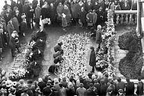 Tryzna za Jana Palacha v Brně v lednu 1969