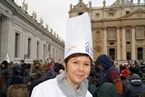Cukrářka Jitka Sedláčková navštívila papeže v Římě.