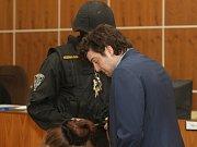 Eskorta přivedla ve středu do soudní síně obžalovaného Dahlgrena.