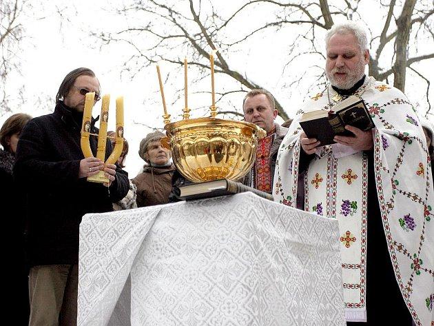 Brněnští pravoslavní věřící slavili poslední den Vánoc.