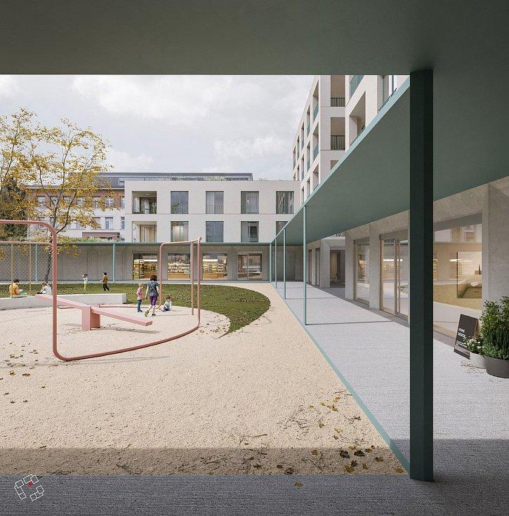Druhé místo za urbanisticko-architektonický návrh náměstí Míru v Masarykově čtvrti v Brně.