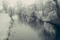 Procházka kolem řeky v brněnském Komíně.
