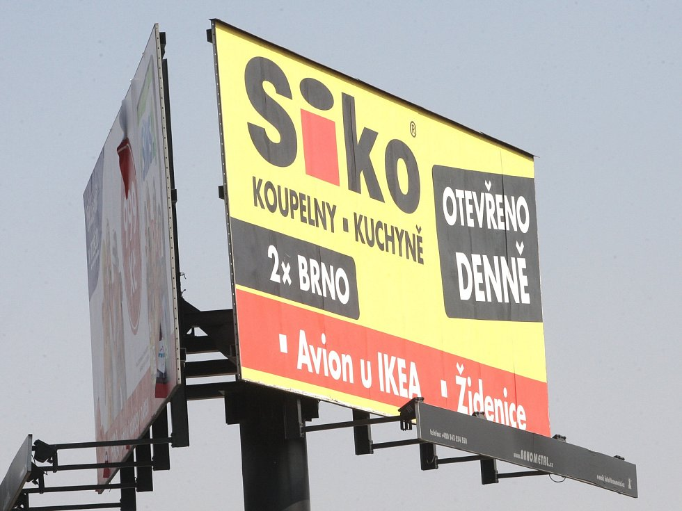 Billboard v Brně.