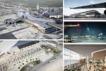 Albert Wimmer (Vídeň): Jižní rozšíření Terminálu 3, Mezinárodní letiště ve Vídni, Rakousko. Vizualizace.