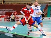 Čeští florbaloví reprezentanti ve švýcarském Curychu.