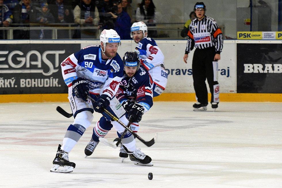 HC Kometa Brno v bílém (Martin Dočekal) proti HC Vítkovice