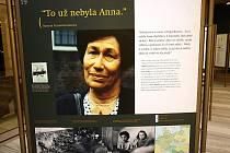 Výstava ve foyer Janáčkova divadla informuje o historii holocaustu z perspektivy třináctileté židovské dívky Anny Frankové a její rodiny.