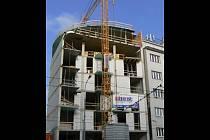 Hrubá stavba projektu Felicidad v Křenové ulici v Brně.