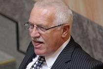 Prezident České republiky Václav Klaus.