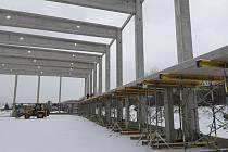 Stavba zimního stadionu v Kuřimi
