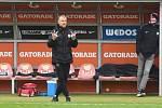 Brno 16.12.2020 - domácí FC Zbrojovka Brno v červeném (nový trenér Richard Dostálek) proti 1. FC Slovácko