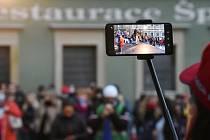 Demonstrace v Brně, ilustrační foto