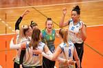 Královopolské volejbalistky zvítězily v brněnském derby, když porazily Šelmy 3:2 na sety.