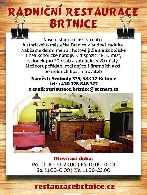 31. Radniční restaurace Brtnice